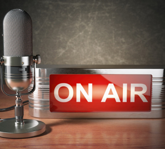 Media page_on air with microphone